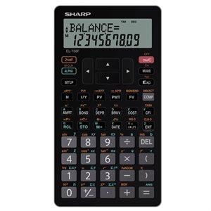 SHARP Calculatrice financière et scientifique EL-738FC