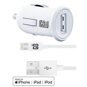 Chargeur Auto MFI iPhone / iPad / iPod GO 2.1amp cable 5' -